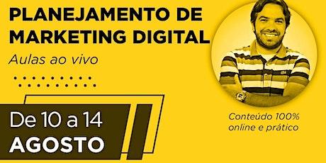 Curso Planejamento de Marketing Digital (curso online) ingressos
