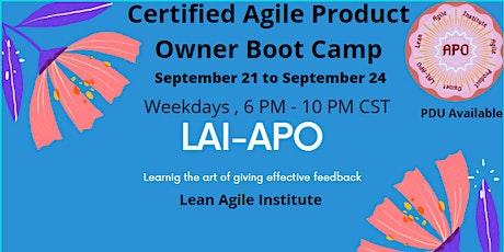 Virtual  Live ! Certified Agile Product Owner (LAI-APO) ingressos
