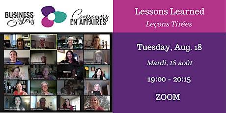 Lessons Learned/Business Sisters - Leçons Tirées/Consœurs en Affaires tickets
