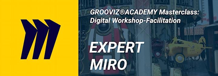 GROOVIZ® ACADEMY Masterclass: Digital Workshop- Facilitation EXPERT-MIRO: Bild