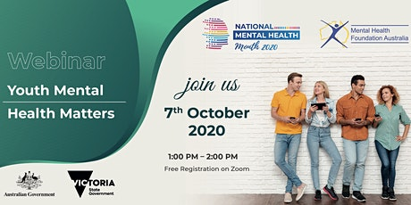 Webinar - Youth Mental Health Matters tickets