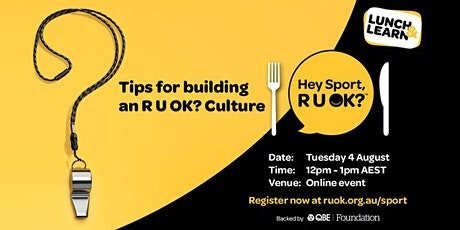 Tips for building an R U OK? Culture tickets
