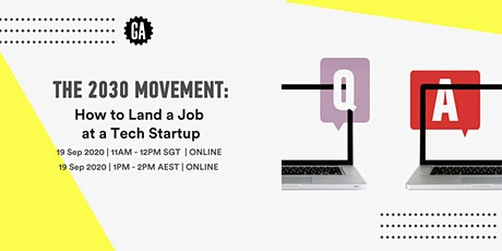 2030 Movement: How to Land a Job at a Tech Startup tickets
