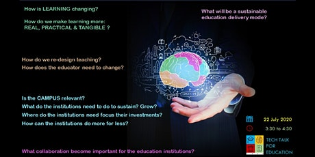 [FREE] TECH TALK FOR EDUCATION - The Future of Education Webinar Series 3 tickets