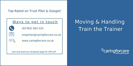 Moving & Handling Train the Trainer 2 Day Training tickets