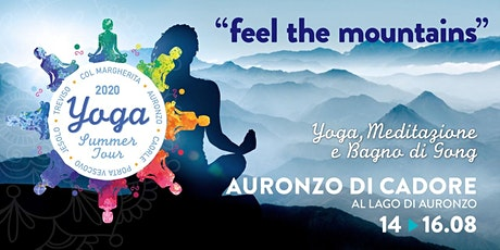 "Yoga Summer Tour Veneto 2020- ""Feel the mountains""  YOGA e Bagno di Gong biglietti"