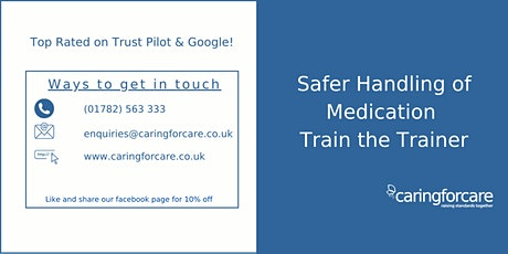 Safer Handling of Medication Train the Trainer - 2 Day Training tickets