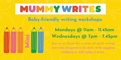 Mummy Writes Mini Baby-Friendly Creative Writing Workshop tickets