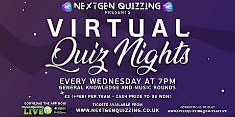 Virtual Quiz Nights - Every Wednesday tickets