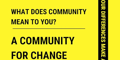 A Community For Change tickets