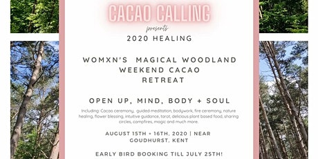 Women's Cacao Healing Spiritual Woodland Retreat W tickets