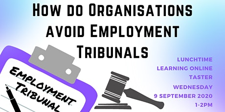 How do organisations avoid employment tribunals tickets