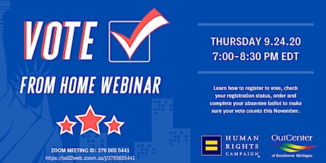 Vote From Home Webinar tickets