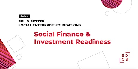 Social Finance & Investment Readiness tickets