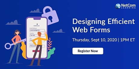 Webinar - Designing Efficient Web Forms tickets