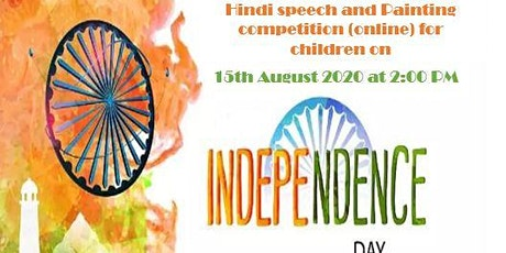 Hindi Speech and painting competition(online)  Independence day 2020 tickets