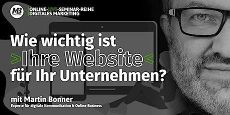ONLINE-LIVE-SEMINAR: Wie wichtig ist Ihre Website für Ihr Unternehmen? Tickets