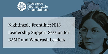 FNF Leadership Support Session for BAME and Windrush Leaders tickets