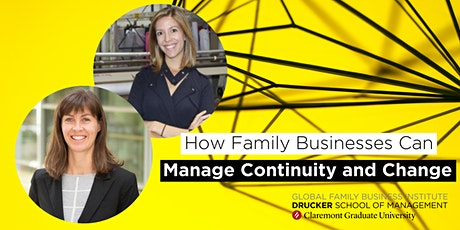 How Family Businesses Can Manage Continuity and Change tickets