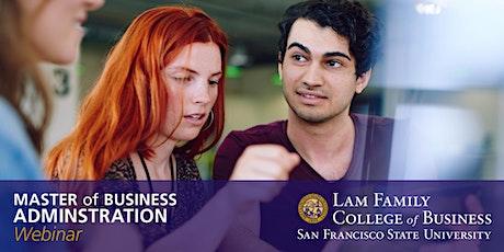 San Francisco State University MBA Information Session - Webinar tickets