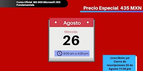 Curso ONLINE MS-900 Microsoft 365 Fundamentals entradas