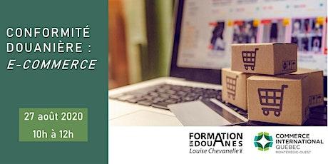 Conformité douanière : e-commerce billets