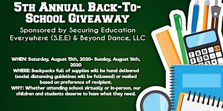 5th Annual Back-to-School Giveaway tickets