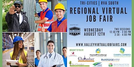 Tri-Cities   RVA South REGIONAL Virtual Job Fair (EMPLOYERS ONLY) tickets