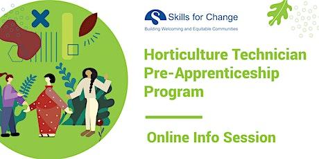 Horticulture Technician Pre-Apprenticeship Program- Info Session (Hamilton) tickets