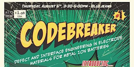 CAES Codebreaker seminar series tickets