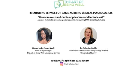 BAME Aspiring Clinical Psychologists; how can we stand out in applications? tickets