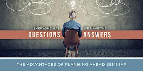 Advantages of Planning Ahead Seminar tickets