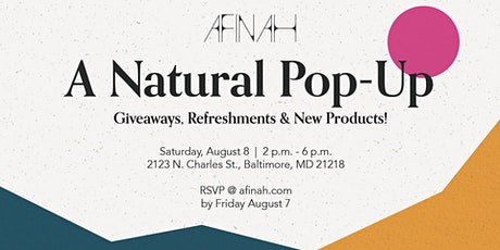 Afinah | A Natural Pop Up Shop tickets