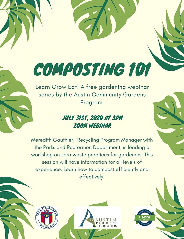 Composting 101: Austin Community Gardens Program Webinar image