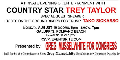 An evening with Trey Taylor presented by Musselwhite for Congress tickets