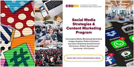 Info Session: Social Media Strategies Program | CSUDH Webinar (8/22/20) tickets
