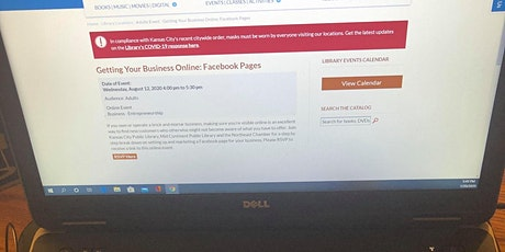 Getting Your Business Online: Facebook Pages 8/12/20; 4-5:30 PM tickets