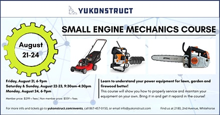 Small Engine Mechanics Course tickets