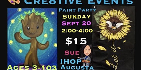 $15 Kiddos & Adult Paint Party @ IHOP in Augusta- Sue tickets