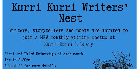 Writer's Nest 2nd Wednesday (Kurri Kurri Library) tickets