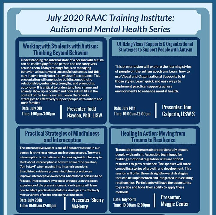 RAAC Training Series- RECORDED Sessions image