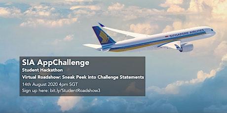 SIA AppChallenge 2020 Student Track - Sneak Peak of Challenge Statements tickets