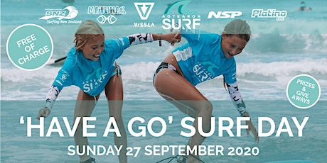FREE 'Have A Go' Surf Day 2020 with Aotearoa Surf School tickets