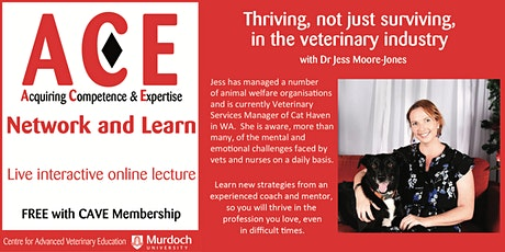 Thriving, not just surviving, in the veterinary industry tickets
