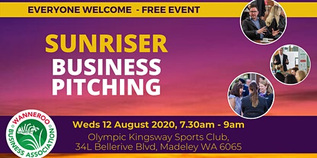 Free Business Sunriser - Business Pitching tickets