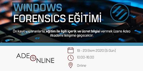 WINDOWS FORENSICS  - EĞİTİM tickets