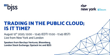 Trading in the Public Cloud. Is it time? tickets