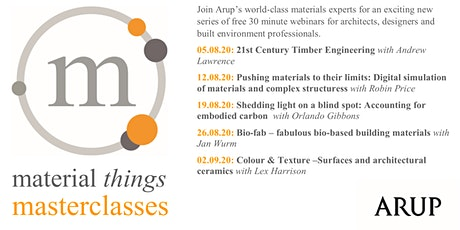 Material Things Masterclasses - Bio-fab – fabulous bio-based materials tickets
