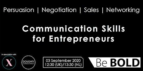 Half day Communication Skills for Entrepreneurs tickets