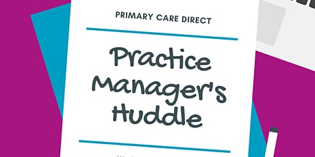 Practice Manager's Huddle August 2020 tickets